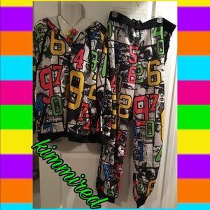 🆕 Colorful/Bright Plus Track/Jogger Suit/Set ~ 3X